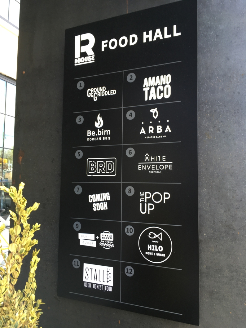 Food counters at R. House