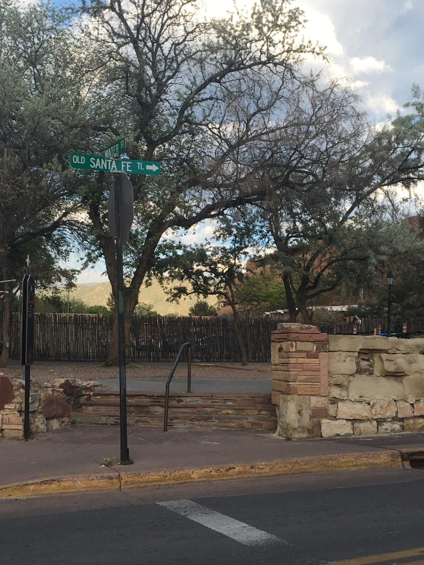Old Santa Fe Trail sign