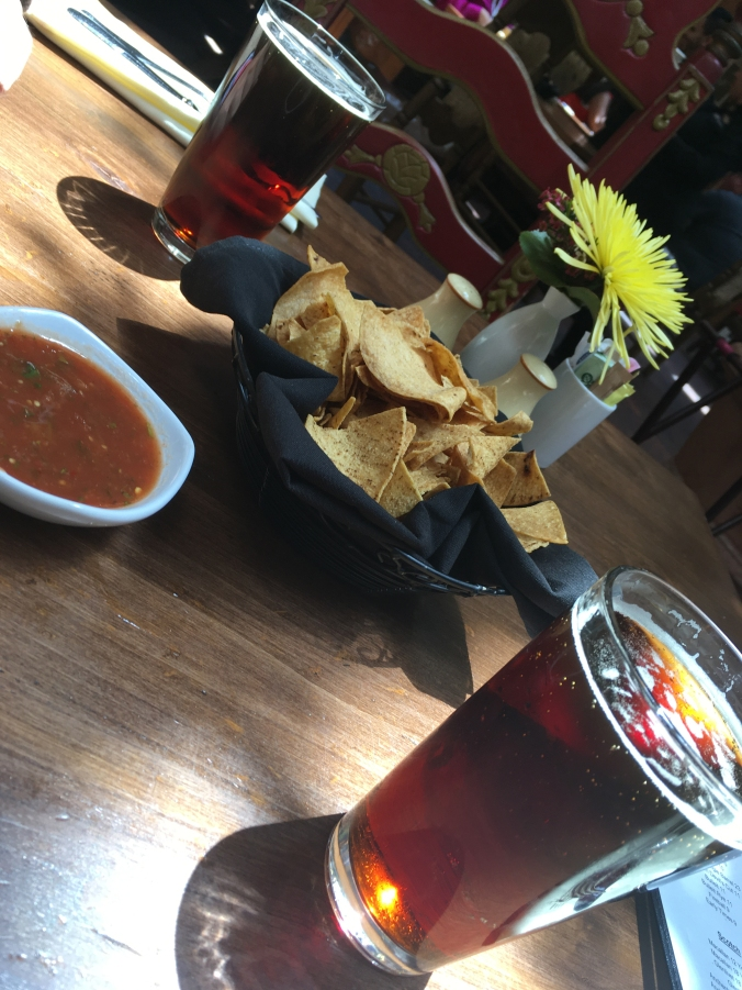 Chips and salsa, and beers - La Plazuela