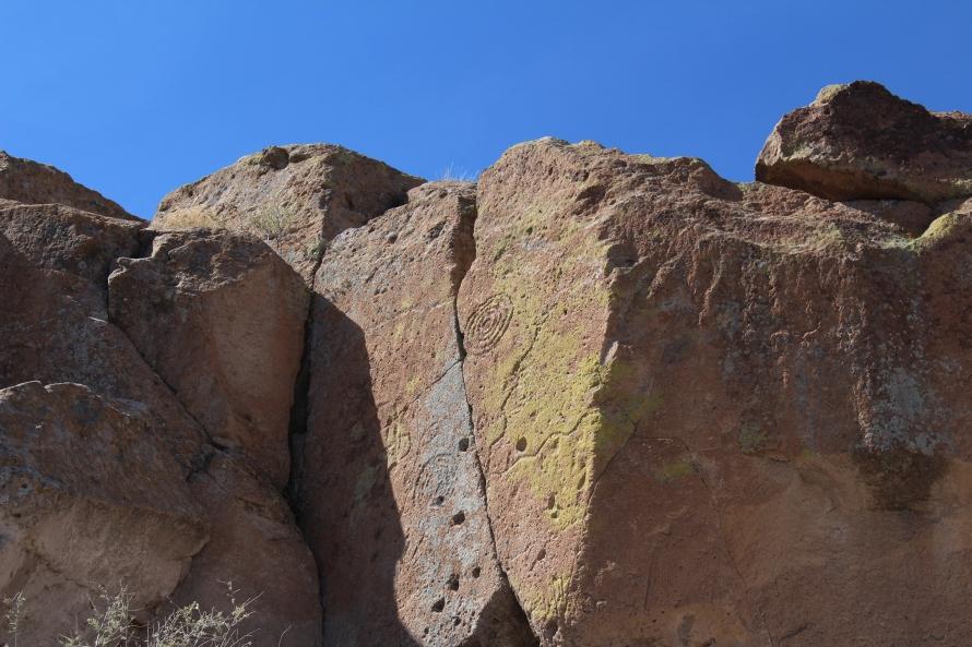 Pictographs, Tsankawi Village Trail, New Mexico